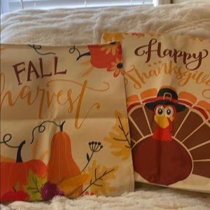 Thanksgiving set of 2 throw pillow covers